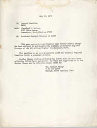 Memorandum from Jan Bailey, August 16, 1974