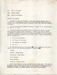 Memorandum from Banbose Shango, 1975