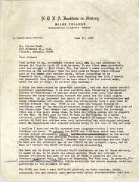 Letter August Meier to Julian Bond, June 17, 1966