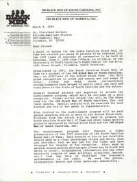 Letter from James Bennett to Cleveland Sellers, March 9, 1995