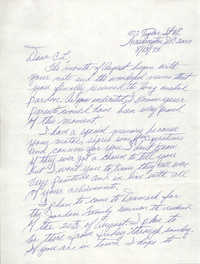 Letter from H. A. Sojourner to Cleveland Sellers, August 13, 1993