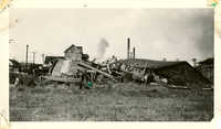Wooden Building After the 1938 Tornado