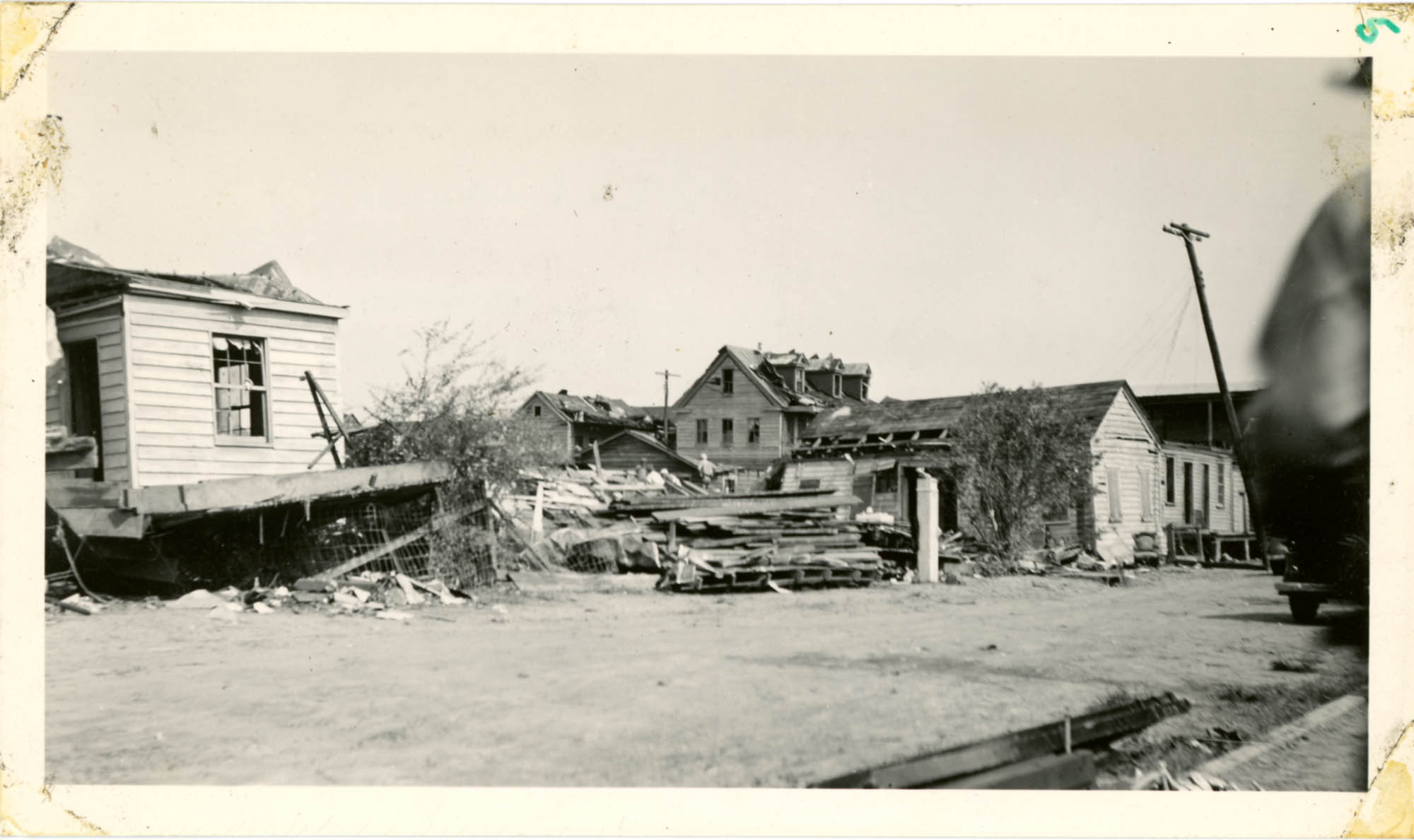 Fiddlers Green Dwellings After the 1938 Tornado