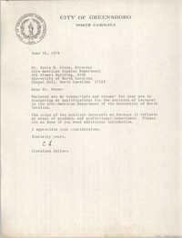 Letter from Cleveland Sellers to Sonja H. Stone, June 30, 1978