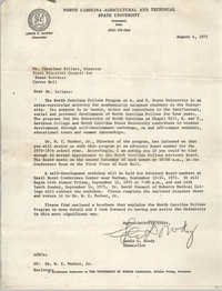 Letter from Lewis C. Dowdy to Cleveland Sellers, August 4, 1975