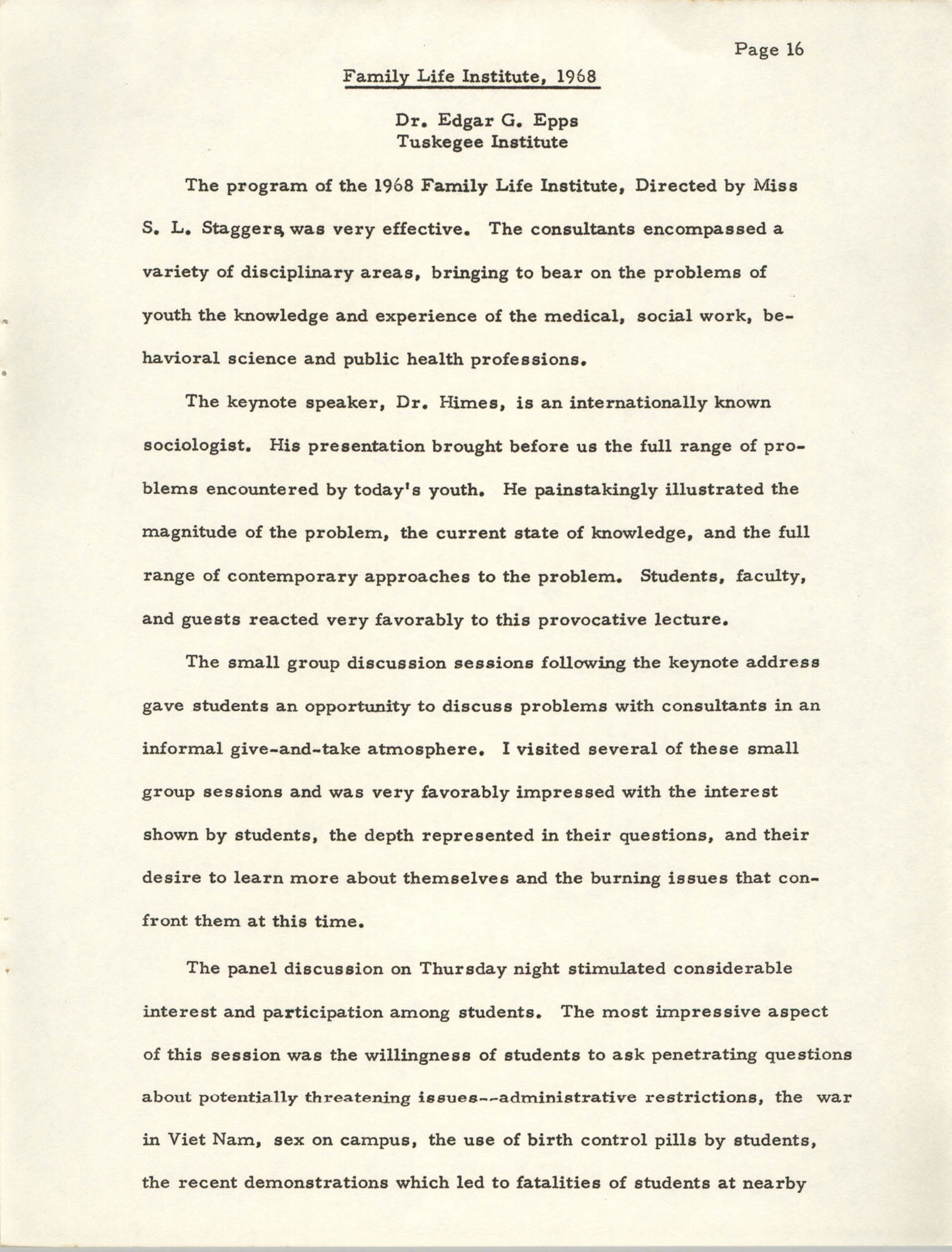 Letter Sallie Smith to Cleveland Sellers, April 20, 1978