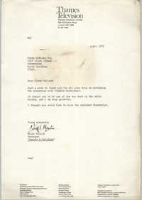 Letter from Nigel Maslin to Cleveland Sellers, April 1976