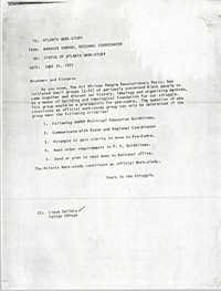 Memorandum from Banbose Shango, June 30, 1975