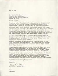 Letter from Cleveland Sellers to John Ruffin, May 26, 1989