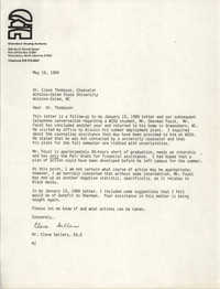Letter from Cleveland Sellers to Cleon Thompson, May 16, 1989
