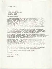 Letter from Cleveland Sellers to Terry Sanford, August 23, 1988