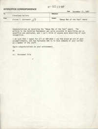 Memorandum from Elaine T. Ostrowski to Cleveland Sellers, December 17, 1987