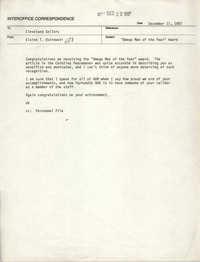 Memorandum from Elaine T. Ostrowski to Cleveland Sellers, December 17, 1987