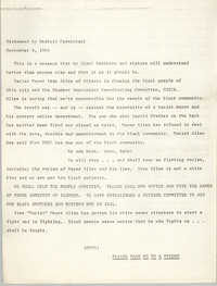 Statement by Stokely Carmichael, September 8, 1966