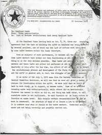 All African People's Revolutionary Party Memorandum, October 29, 1976