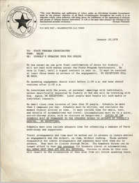 All African People's Revolutionary Party Memorandum, January 18, 1978