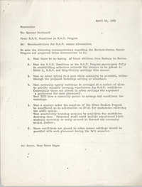 Harvard University Memorandum, April 29, 1969