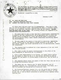 All African People's Revolutionary Party Memorandum, February 9, 1978