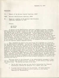 National Program Committee Memorandum, September 16, 1974