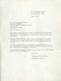Letter from Cleveland Sellers to Dennis Burnette, May 30, 1984
