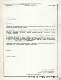 Letter from Cleveland Sellers to Supporters, November 18, 1983