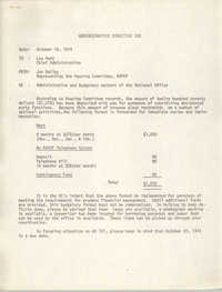Administrative Directive 102 Memorandum, October 16, 1974