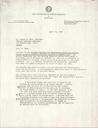 Letter from Sonja H. Stone to Daniel A. Okun, April 19, 1979