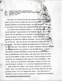 Memorandum from Cleveland Sellers, July 11, 1976