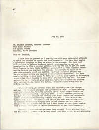 Letter to Charles Derrick, July 19, 1972