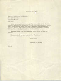 Letter from Cleveland Sellers to Office of Admissions and Records at Howard University, September 29, 1971