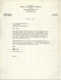 Letter from Howard Moore, Jr. to Cleveland Sellers, April 16, 1970