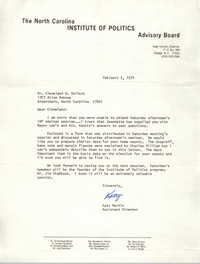 Letter from Katy Martin to Cleveland Sellers, February 5, 1974