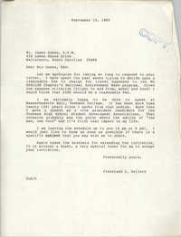 Letter from Cleveland Sellers to James Guess, September 10, 1985