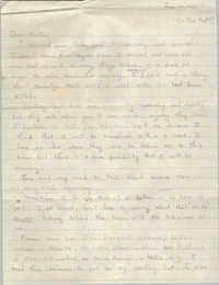Letter from Cleveland Sellers to Pauline Taggert Sellers, June 20, 1965