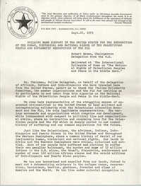 Statement by Robert Brown, September 26, 1979