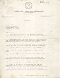 Letter from Hattye H. Liston to Ron Pell, April 25, 1978