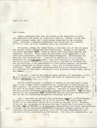Letter from Cleveland Sellers to Ivanhoe Donaldson, August 31, 1979