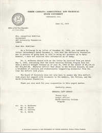 Letter from Thomas Boyd to Jacqueline McMillian, June 13, 1979