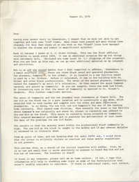 Letter from Cleveland Sellers, August 10, 1979