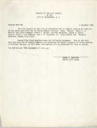 Minutes of the City Council of the City of Greensboro, N.C., December 1, 1980