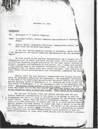 Memorandum from Cleveland Sellers, November 27, 1976