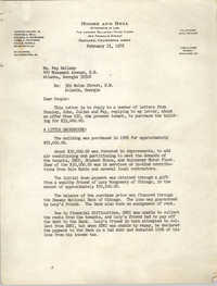 Letter from Howard Moore, Jr. to Fay Bellamy, February 23, 1976
