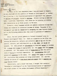 Letter from Nkosi Ajanaku to G. Peete, June 1974