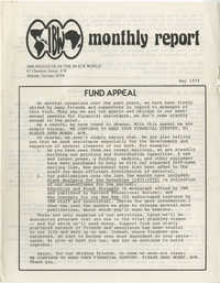 The Institute of the Black World Monthly, May 1974