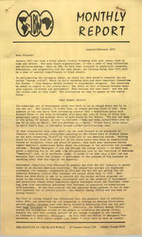 The Institute of the Black World Monthly, January-February 1974