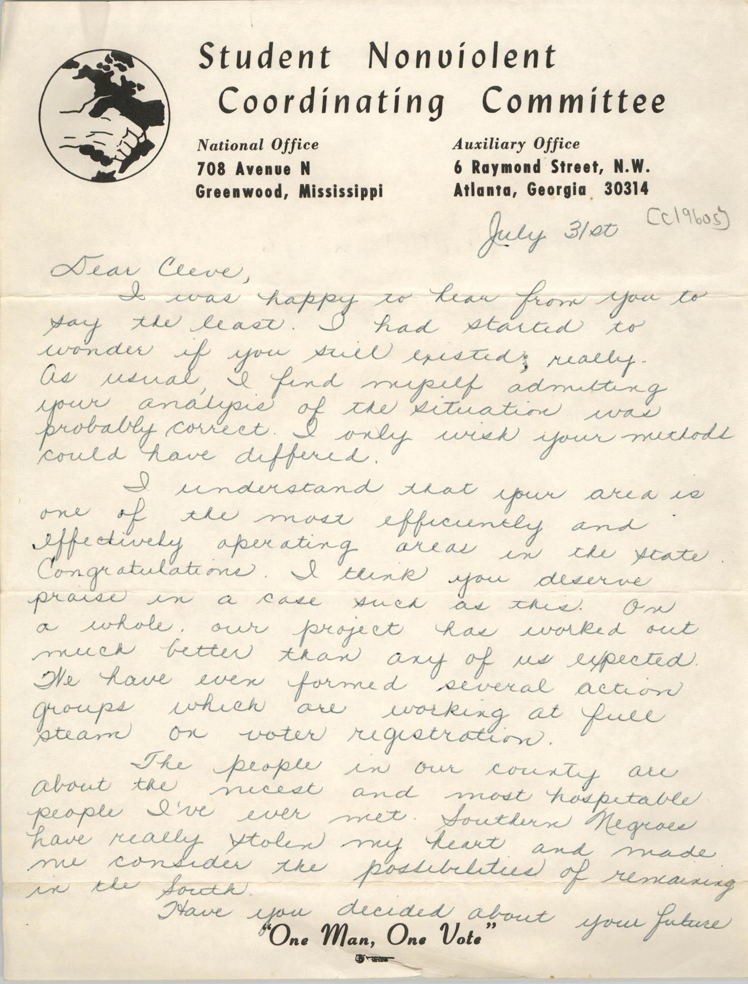 Letter to Cleveland Sellers