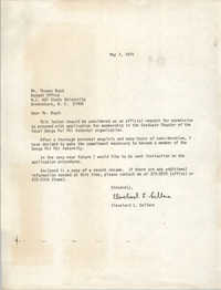 Letter from Cleveland Sellers to Thomas Boyd, May 7, 1979