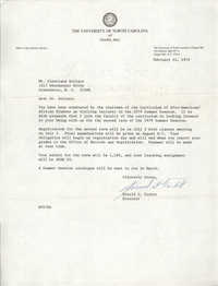 Letter from Donald G. Tarbet to Cleveland Sellers, February 14, 1979
