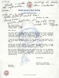 Letter from Willie E. Jeffries to Aaron Purdie, December 19, 1989