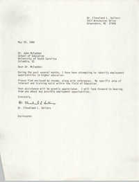 Letter from Cleveland Sellers to John McFadden, May 25, 1990